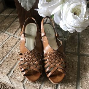 Guess Wedge Sandals, Size 8.5/9